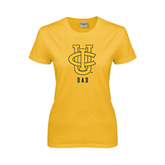Ladies Gold T Shirt-Dad