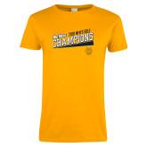 Ladies Gold T Shirt-2018 Mens Golf Champions