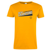 Ladies Gold T Shirt-2018 Womens Water Polo Champions