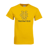 Gold T Shirt-Track and Field