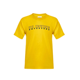 Youth Gold T Shirt-UC Irvine Anteaters Arched
