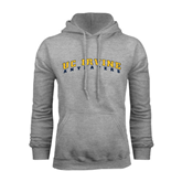 Grey Fleece Hoodie-UC Irvine Anteaters Arched
