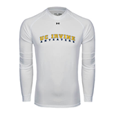 Under Armour White Long Sleeve Tech Tee-UC Irvine Anteaters Arched