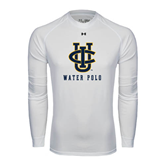 Under Armour White Long Sleeve Tech Tee-Water Polo