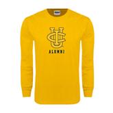 Gold Long Sleeve T Shirt-Alumni