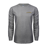 Grey Long Sleeve TShirt-UC Irvine Anteaters Arched