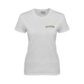 Ladies White T Shirt-UC Irvine Anteaters Arched