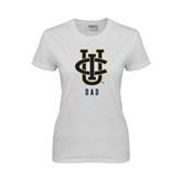 Ladies White T Shirt-Dad