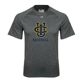 Under Armour Carbon Heather Tech Tee-Baseball