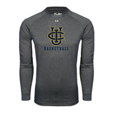 Under Armour Carbon Heather Long Sleeve Tech Tee-Basketball