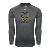 Under Armour Carbon Heather Long Sleeve Tech Tee-Water Polo