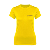 Ladies Syntrel Performance Gold Tee-UC Irvine Anteaters Arched