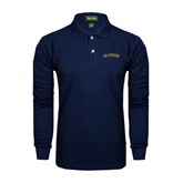 Navy Long Sleeve Polo-UC Irvine Anteaters Arched