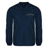 V Neck Navy Raglan Windshirt-UC Irvine Anteaters Arched