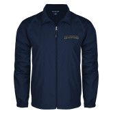 Full Zip Navy Wind Jacket-UC Irvine Anteaters Arched