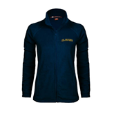 Ladies Fleece Full Zip Navy Jacket-UC Irvine Anteaters Arched
