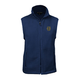 Fleece Full Zip Navy Vest-Official Logo