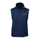 Fleece Full Zip Navy Vest-UC Irvine Anteaters Arched