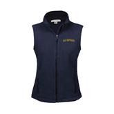 Ladies Fleece Full Zip Navy Vest-UC Irvine Anteaters Arched