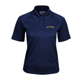 Ladies Navy Textured Saddle Shoulder Polo-UC Irvine Anteaters Arched