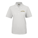 Ladies Easycare White Pique Polo-UC Irvine Anteaters Arched