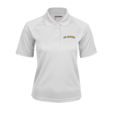 Ladies White Textured Saddle Shoulder Polo-UC Irvine Anteaters Arched