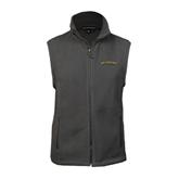 Fleece Full Zip Charcoal Vest-UC Irvine Anteaters Arched