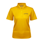 Ladies Gold Dry Mesh Polo-UC Irvine Anteaters Arched