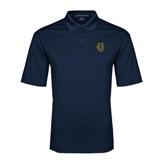 Navy Performance Fine Jacquard Polo-Official Logo