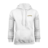 White Fleece Hoodie-UC Irvine Anteaters Arched