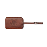 Fabrizio Brown Luggage Tag-Official Logo Engraved