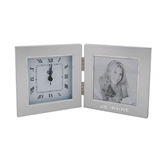 Silver Two Tone Photo Frame w/Clock-UC Irvine Engraved