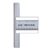 12 Inch White Plastic Ruler-UC Irvine