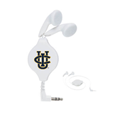 White Retractable Ear Buds-Official Logo