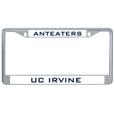 Metal License Plate Frame in Chrome-Anteaters