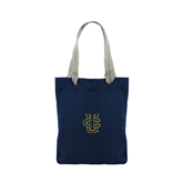 Allie Navy Canvas Tote-Official Logo