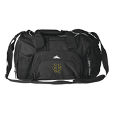 High Sierra Black Switch Blade Duffel-Official Logo