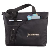 Excel Black Sport Utility Tote-Jacksonville Dolphins Word Mark