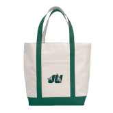 Contender White/Dark Green Canvas Tote-Official Logo