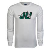 White Long Sleeve T Shirt-Official Logo