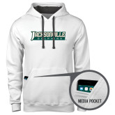 Contemporary Sofspun White Hoodie-Jacksonville Dolphins Word Mark
