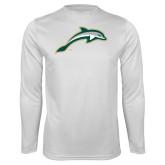 Performance White Longsleeve Shirt-Dolphin