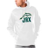 Under Armour White Armour Fleece Hoodie-Dolphin JAX