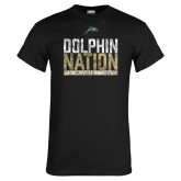 Black T Shirt-Dolphin Nation