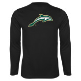 Performance Black Longsleeve Shirt-Dolphin