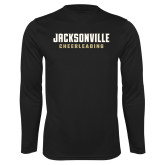 Performance Black Longsleeve Shirt-Cheerleading
