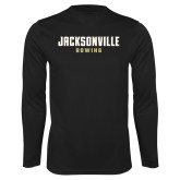 Performance Black Longsleeve Shirt-Rowing