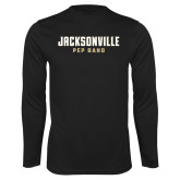 Performance Black Longsleeve Shirt-Pep Band