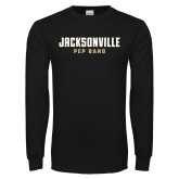 Black Long Sleeve T Shirt-Pep Band