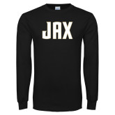 Black Long Sleeve T Shirt-JAX Wordmark